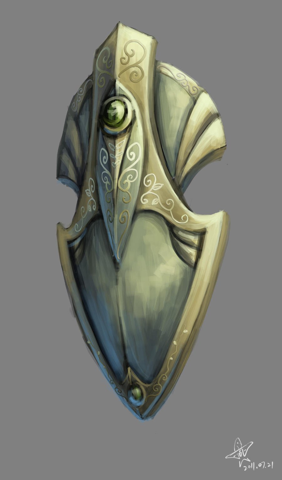 Elven shield by yanzi-5