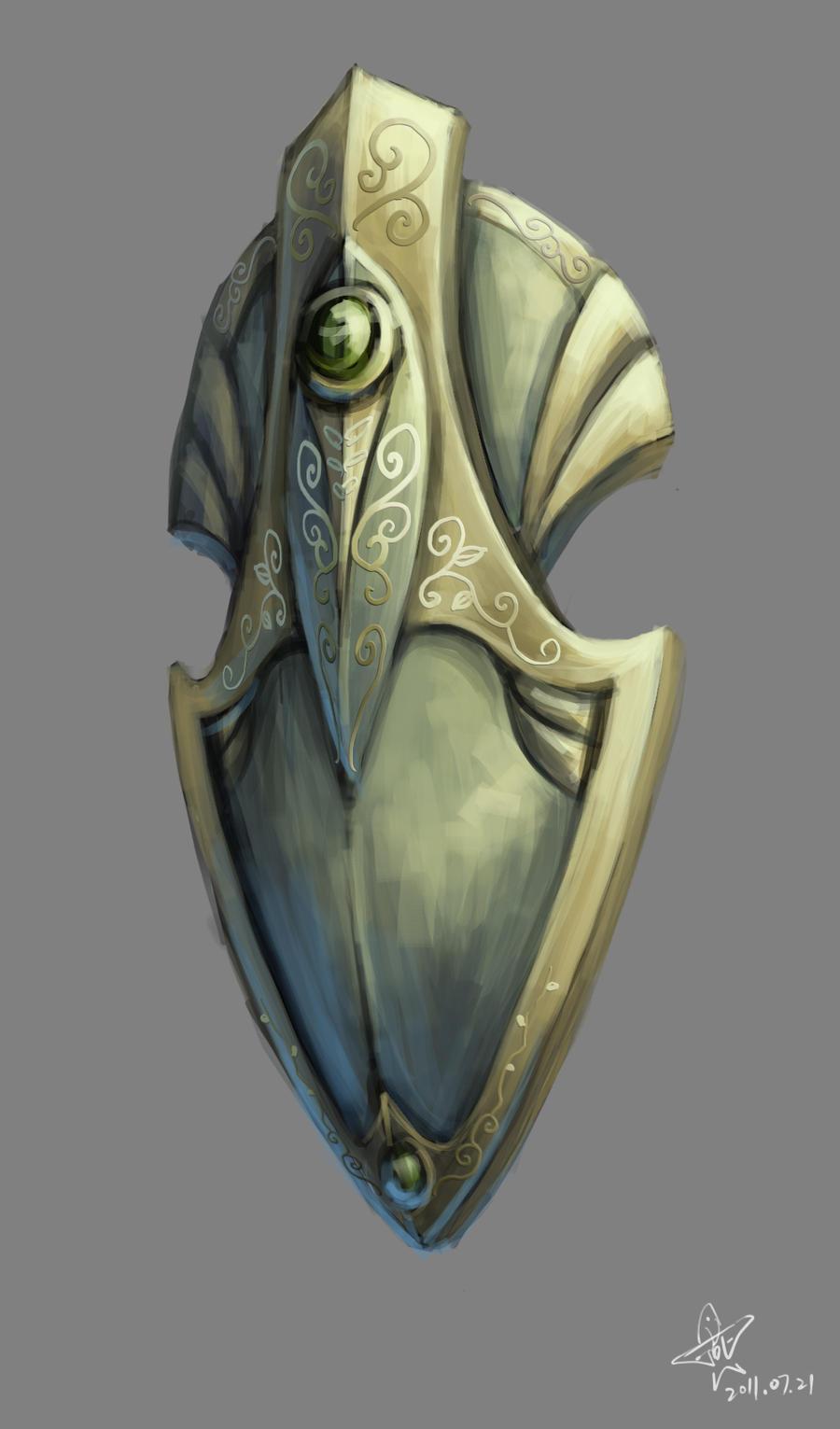 Elven shield by yanzi-5