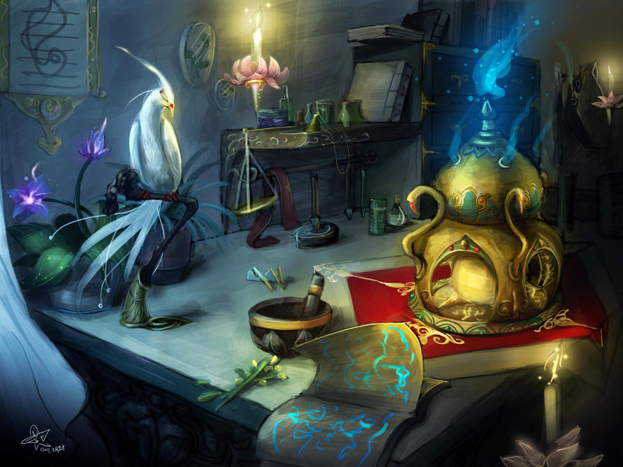 table of the Alchemist by yanzi-5 on DeviantArt