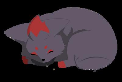 Sleeping Zorua by SolarCrush
