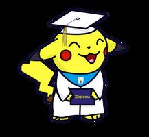 Graduation Pikachu by SolarCrush