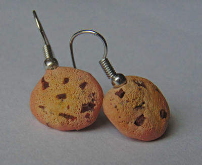 Chocolate Chunk Cookie Earrings by SolarCrush