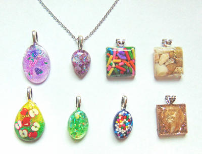 New Resin Pendant Necklaces by SolarCrush