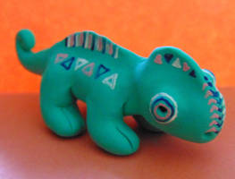 Clay Chameleon Figure by SolarCrush