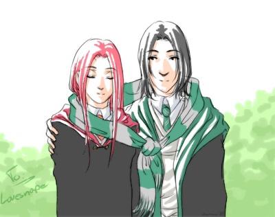 Severus+Lily by anni-viech