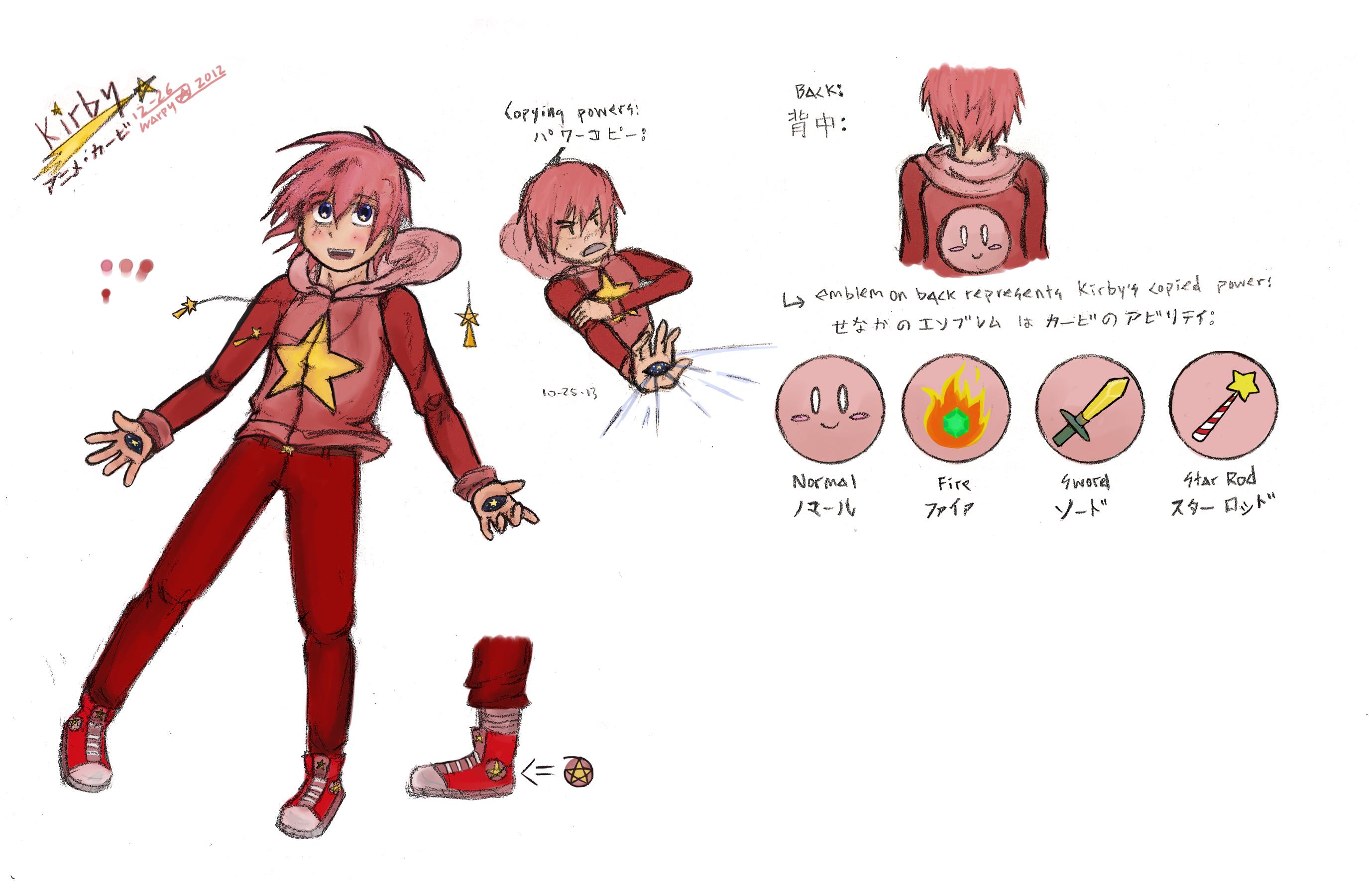 Kirby Gijinka Character Sheet by warp-y on DeviantArt