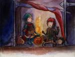 [gijinka] carrying the fire by warp-y