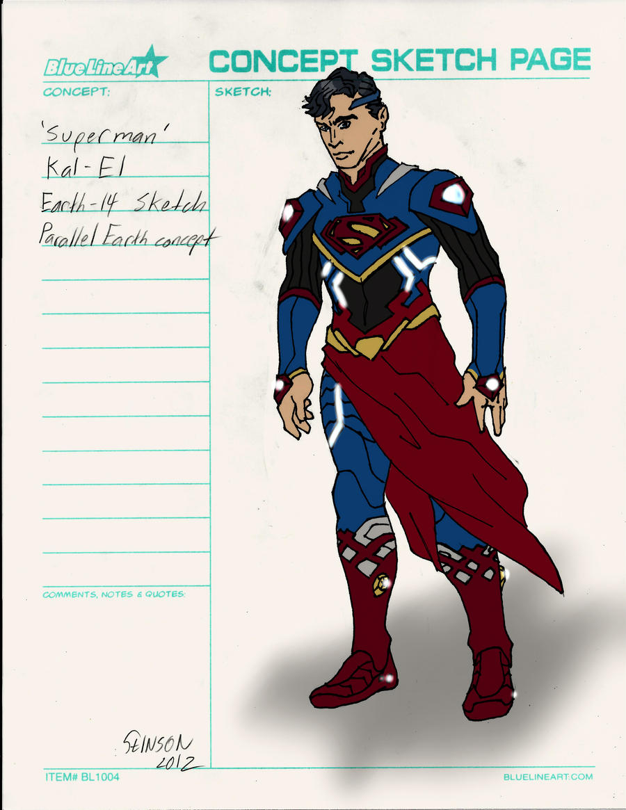 Superman Alternate Earth Design by stinson627