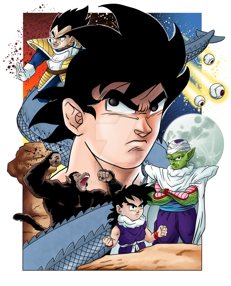 Dragon Ball Z: The Saiyan Saga (Link Below) by stinson627