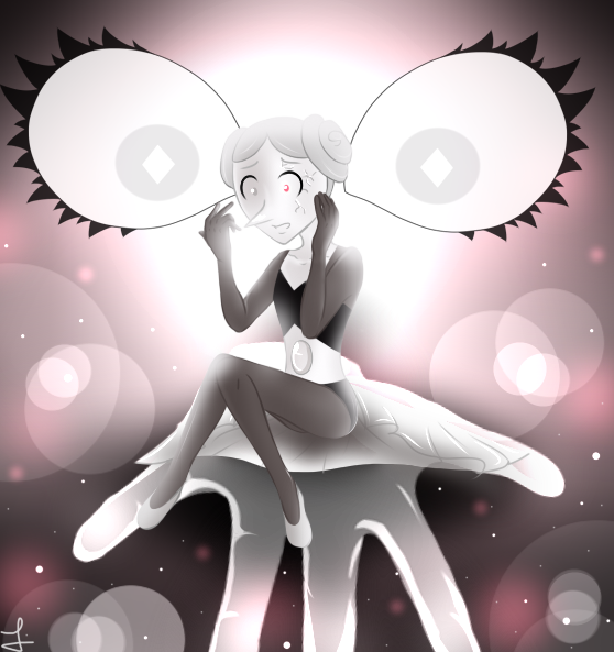 White pearl and White Diamond of Steven Universe by: Rebecca Sugar Draw by me. <3