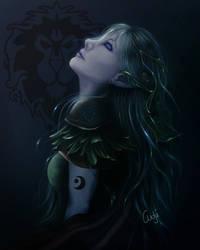 Nightelf Druid by AntjeDarling
