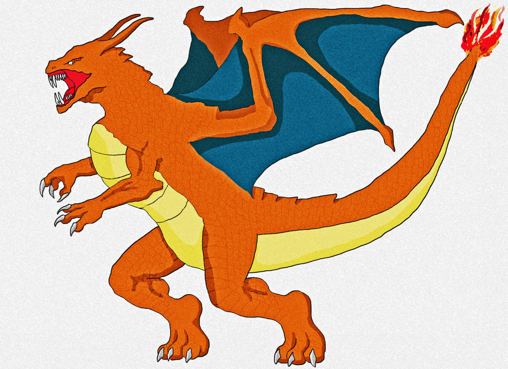 The pokemon dragon Charizard by chambs