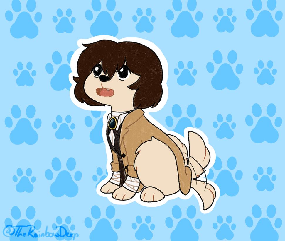 Doggy Dazai by TheRainbowSylveon