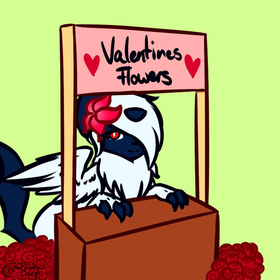 Rydia's Valentine's Flower stand {Request} by TheRainbowSylveon