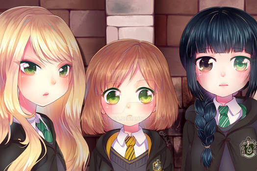 Harry Potter OCs - Lucina, Elise and Leia