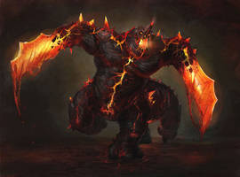 Magma Golem by Wildforge