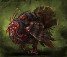 zombie turkey by Wildforge