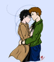 Destiel - Almost a kiss by Shipper-sniper