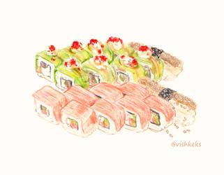 Sushi rolls by VishKeks