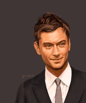 Jude Law portrait study by VishKeks