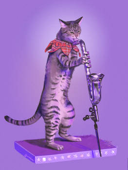 Cat and bass clarinet