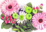 Watercolor bouquet by VishKeks