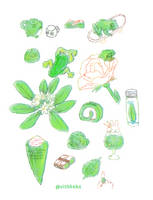 Green sketches by VishKeks