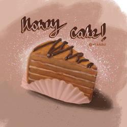 Russian honey cake (glitter)