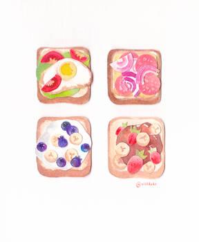 Mini toast collage