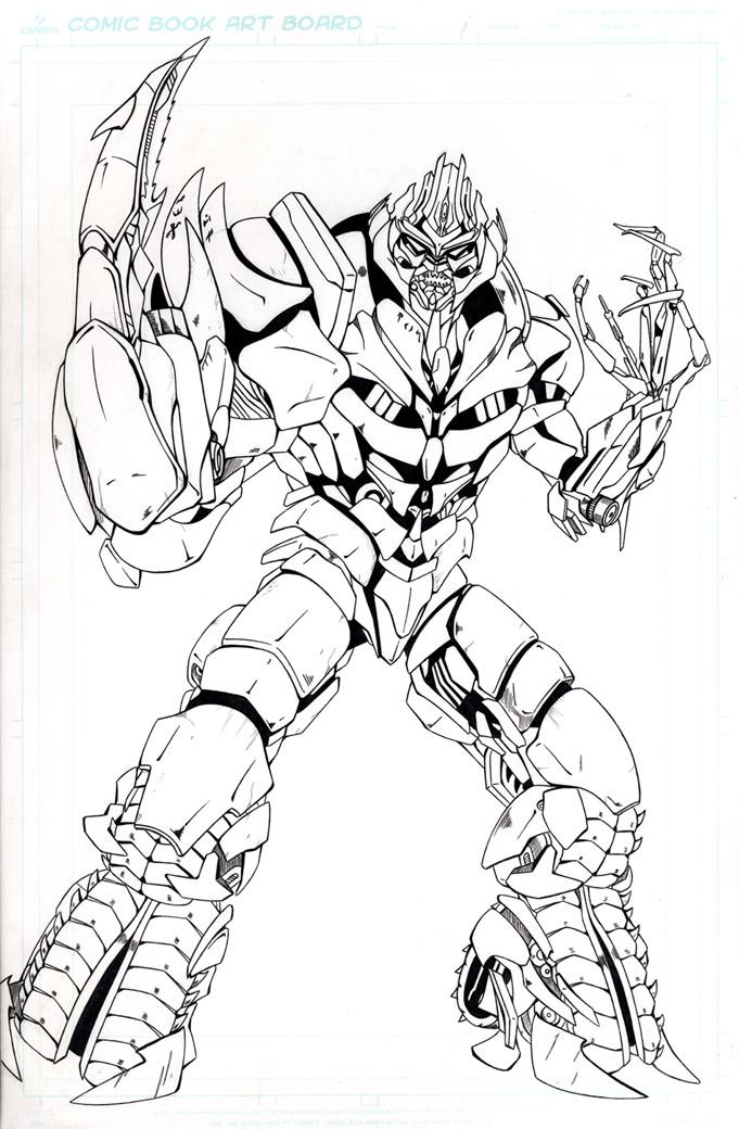 Megatron revenge by legend of blackout on deviantart for Transformers coloring pages megatron