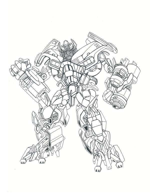 Transformerbiackout free colouring pages for Ironhide coloring pages