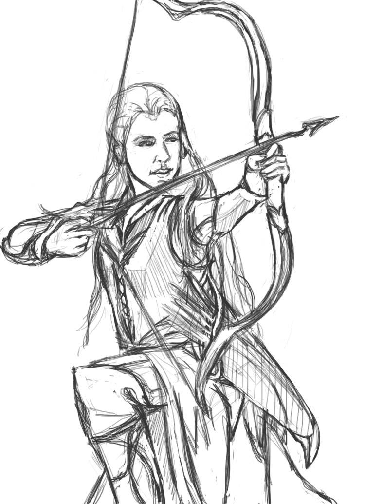 Tauriel (sketch) by KateAlexCrowe on DeviantArt