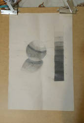College Drawing Class - Value Scale
