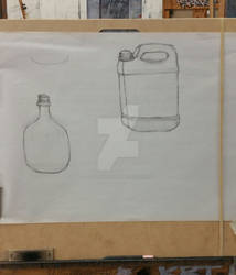 College Drawing Class - Jugs