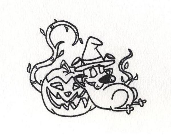 Halloween Pumpkin Courage by AnaMaria88