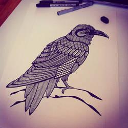 Raven by sunnasdoodles