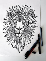 Lion by sunnasdoodles
