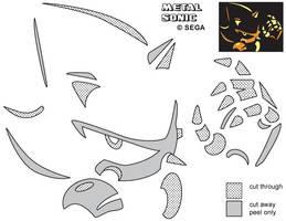 Metal Sonic Jack-O-Lantern Stencil