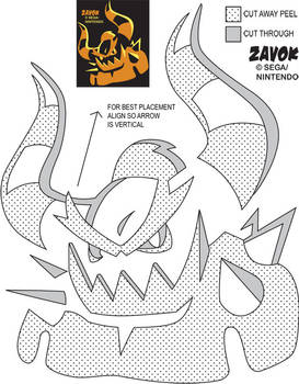 Zavok Jack-O-Lantern Stencil