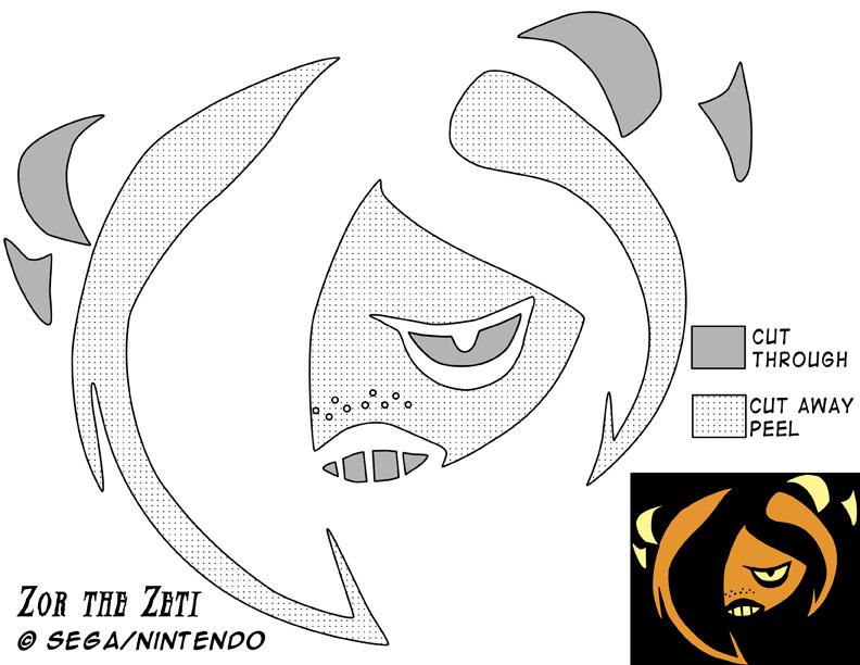 Zor Jack-O-Lantern Stencil by Rally-the-Cheetah