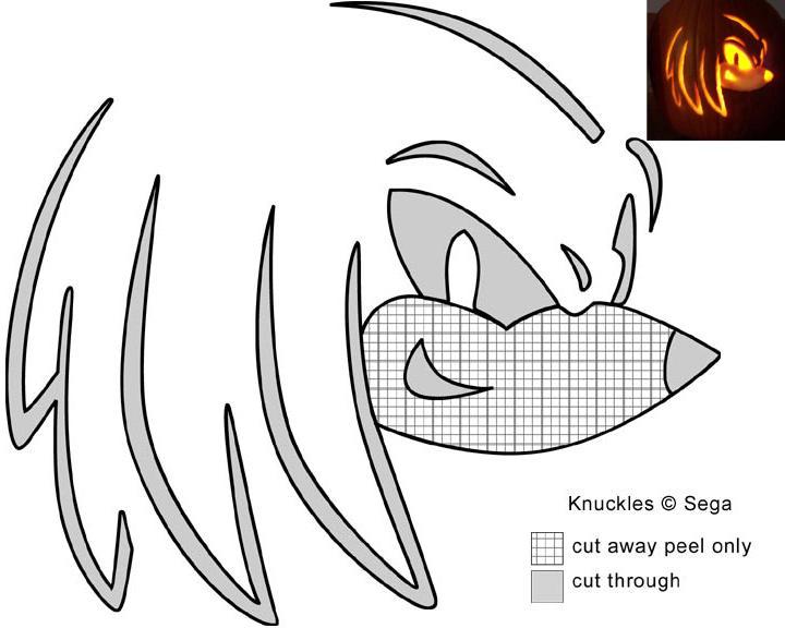 Knux Jack-O-Lantern stencil by Rally-the-Cheetah