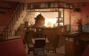 Morning at Tea House Cafe by l3onnie