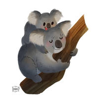 Koala Mum by l3onnie