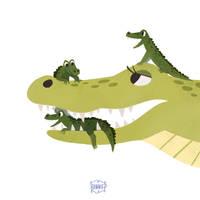 Alligator Mum by l3onnie