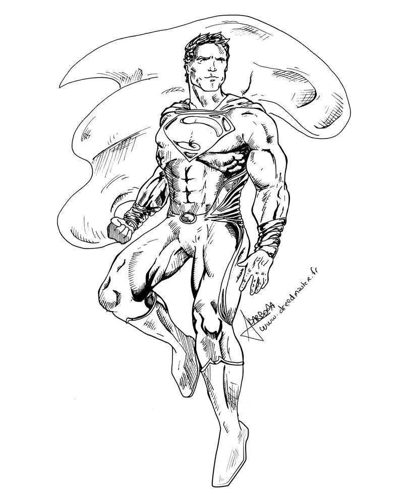 Wip man of steel flight by dreed 06 on deviantart for Man of steel coloring pages
