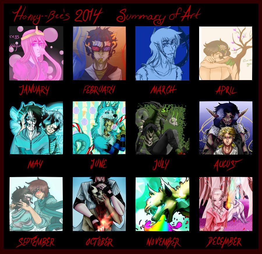 Art Summary of 2014 by Honey--Bee
