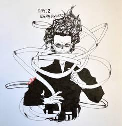 Inktober 2017 - Day 2: EraserHead by PromptoBeans