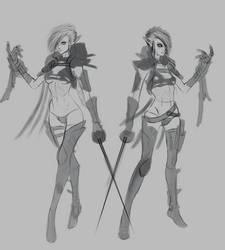 Dark Eldar Twins Characters concept