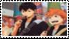 Kageyama and Hinata Stamp by Mrs-Mendoza
