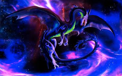 Mya'sih - Dragon in Cosmos by SamuraiDragon